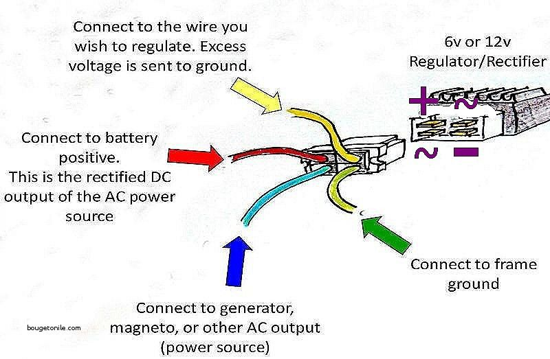 Image Result For 12v Rectifier Regulator Wiring Diagram