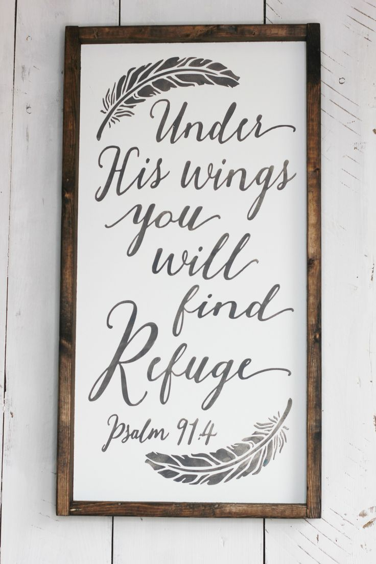 Under his wings farmhouse wood signs x available at simply