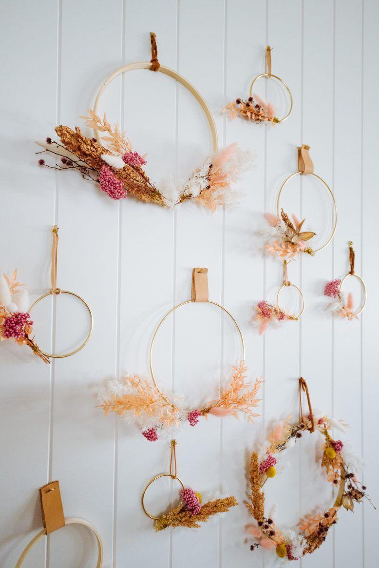 dried flower wreath diy