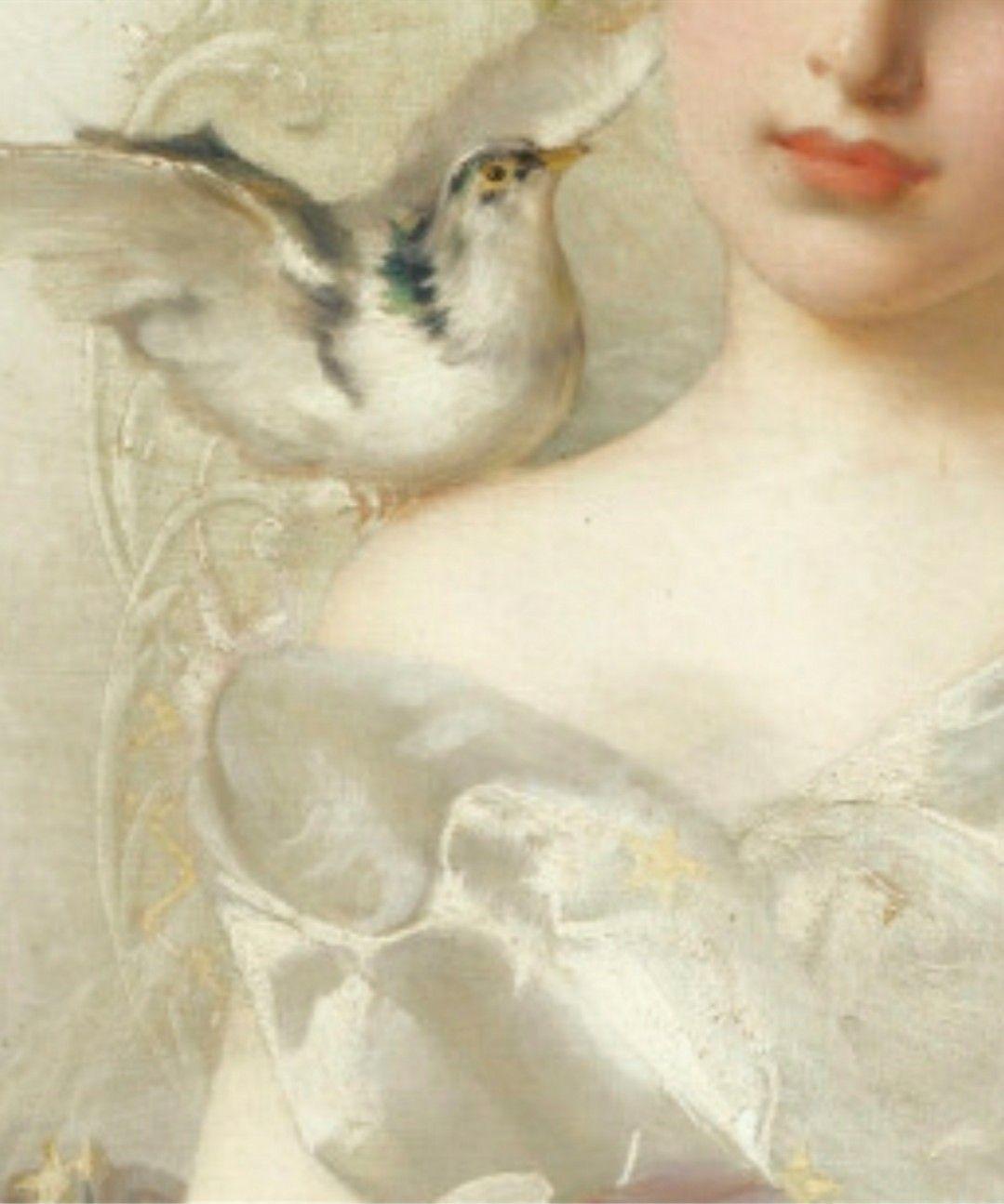Vittorio Matteo Corcos: 'Portrait de Jeune Femme' [detail] -- by Vittorio Matteo Corcos (Italian, 1859--1933) **
