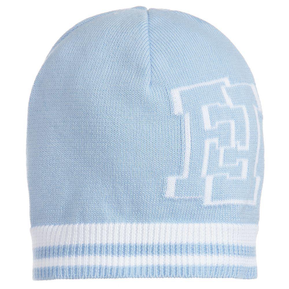 1f088e12 Fendi - Baby Boys Blue Knitted Hat | | 3. | Kids fashion, Kids wear ...