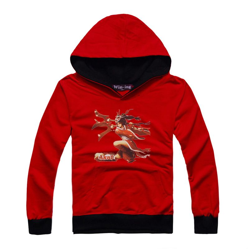 Blood Moon Akali Hit Color Hoody (3 colors) [LOL 00037] - $28.99 : League of Legends Clothing online Store!