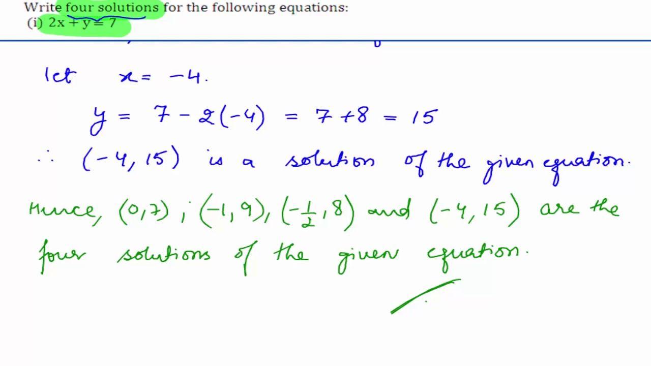 Cbse class 9 maths ncert solutions linear equations