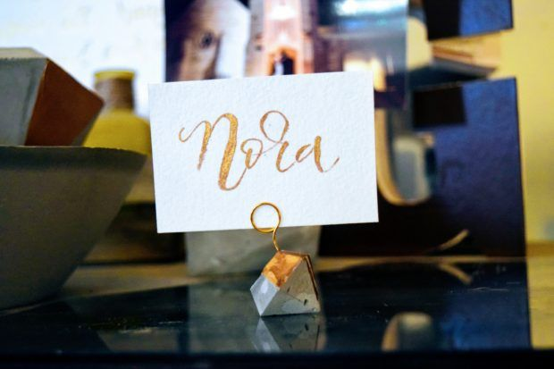 Diy Or Cement Diamond Place Card Holders