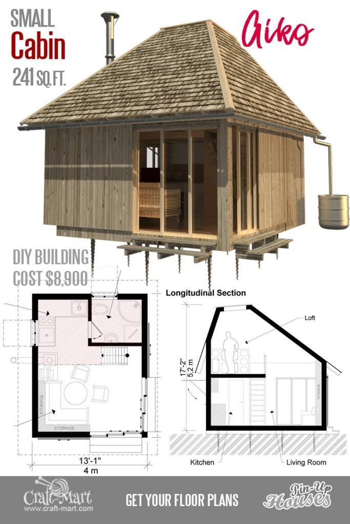 Cute Small Cabin Plans A Frame Tiny House Plans Cottages Containers In 2020 Small Cabin Plans Small House Plans Small House Floor Plans