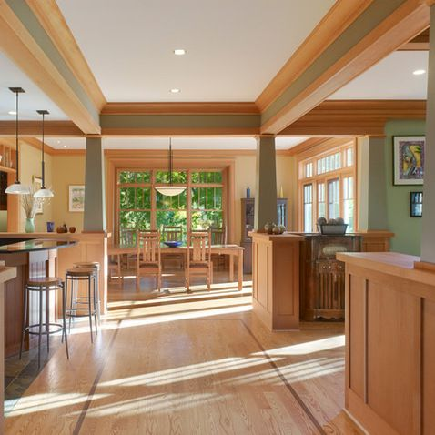 Love how the trim and columns create different focal ...