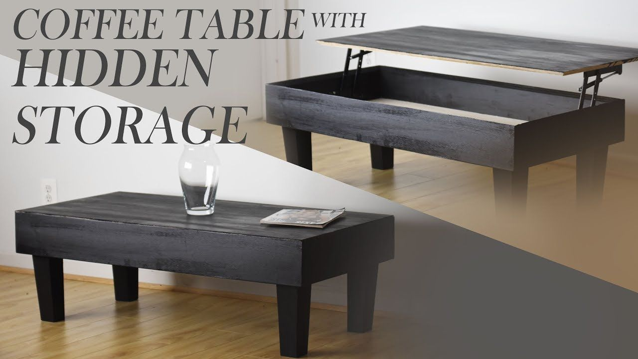 How To Make A Modern Coffee Table With Hidden Storage Handmade Crafts Howto Diy Coffee Table With Hidden Storage Coffee Table Modern Coffee Table Diy [ 720 x 1280 Pixel ]