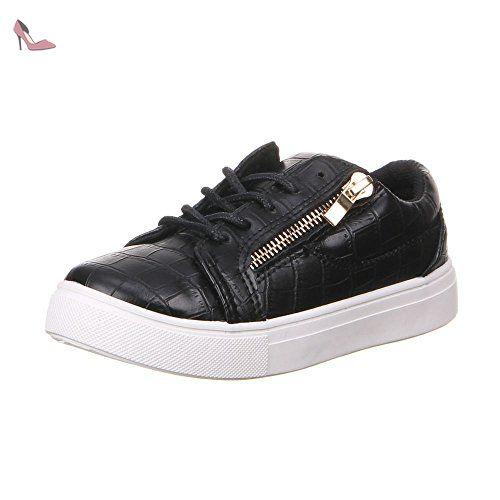 Chaussures pour enfants garçons et filles chaussures - Noir - Schwarz 31 EU  - Chaussures ital design (*Partner-Link)