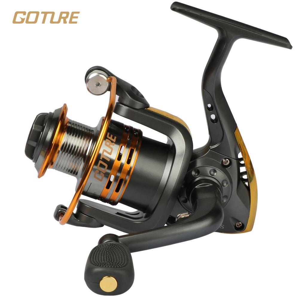 Amazing Goture Metal Spool Spinning Fishing Reel 6BB Superior Wheel For Freshwater  Saltwater Fishing 500 1000