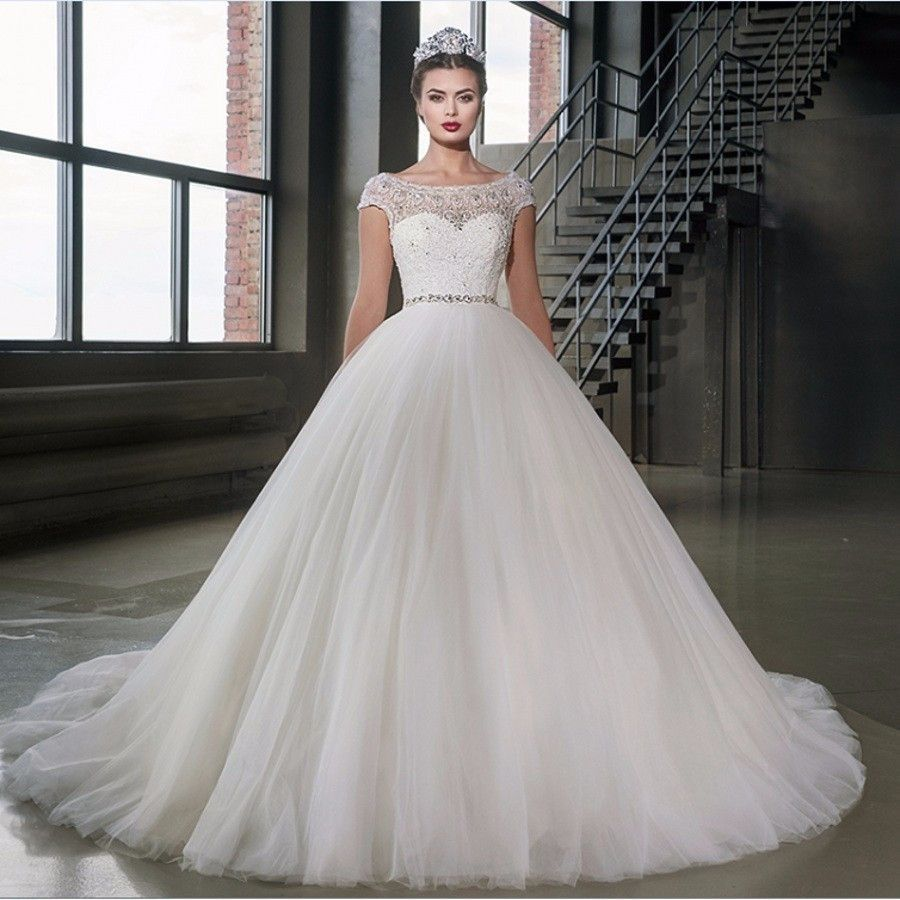Ball gown wedding dresses weddingdress cap sleeves products