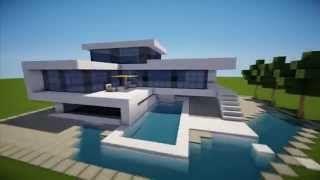 Case Moderne Minecraft : Minecraft modern house tutorial youtube minecraft