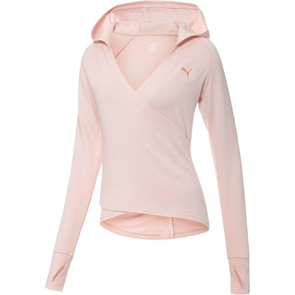 Puma Wrap Me Up Top ($35) ❤ liked on Polyvore featuring tops, pink