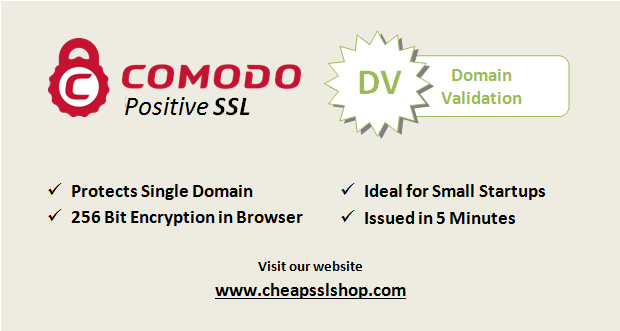Get Comodo Positive SSL certificate at 34% additional discount ...