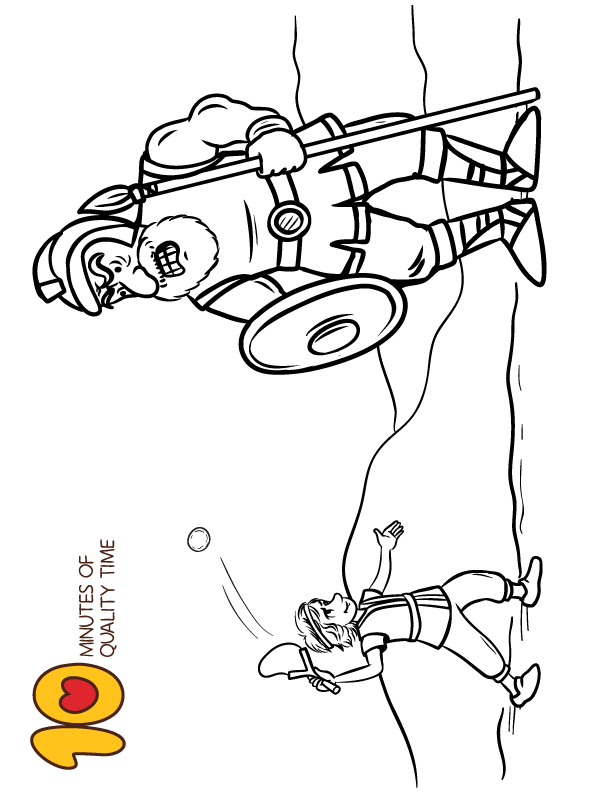 David And Goliath Bible Coloring Page Bible Coloring Pages