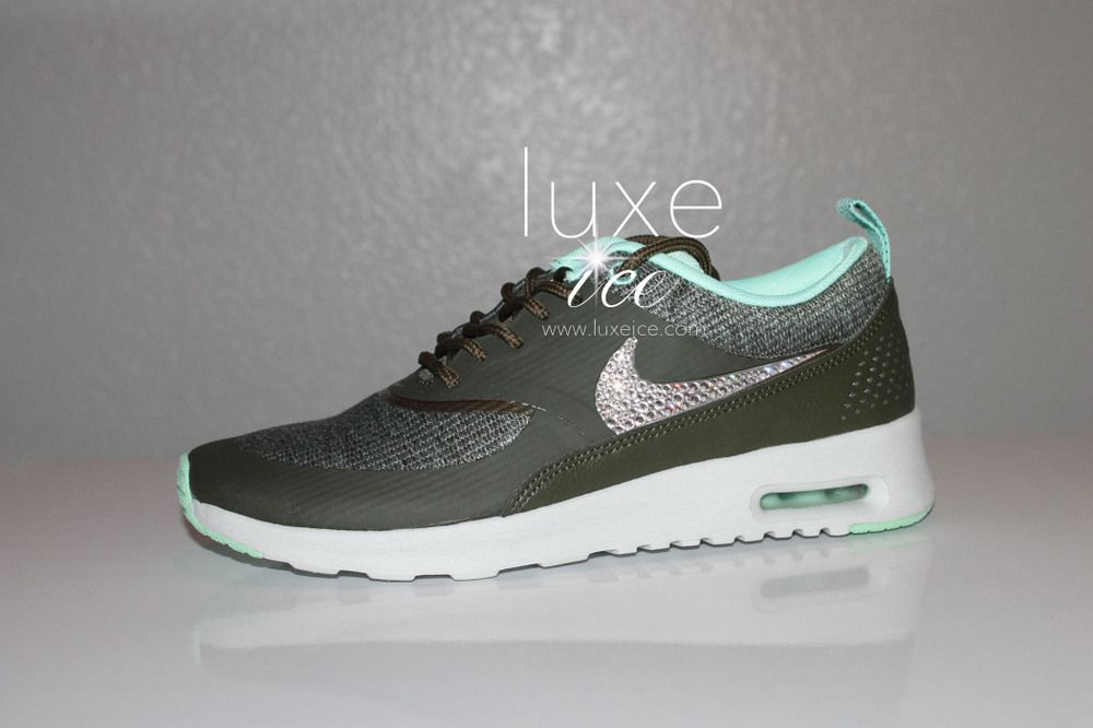 Nike Air Max Thea With Swarovski Elements Crystals Size 3ss