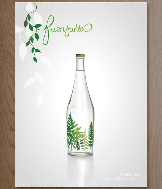 mesh tool illustration #illustrator #illustration #poster #advert #bottle #mineral water  Lori Designs | Folio