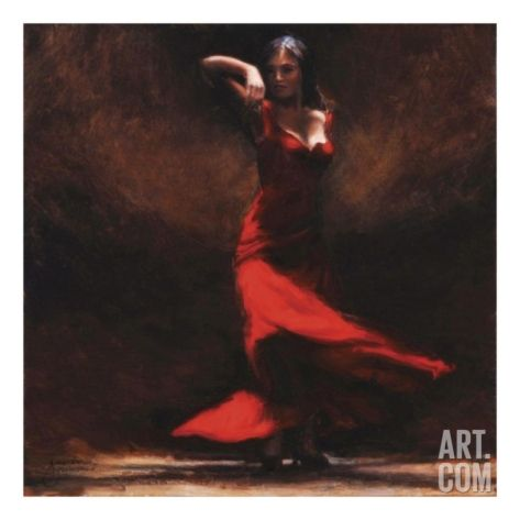 Passion of Flamenco Art Print by Amanda Jackson at Art.com