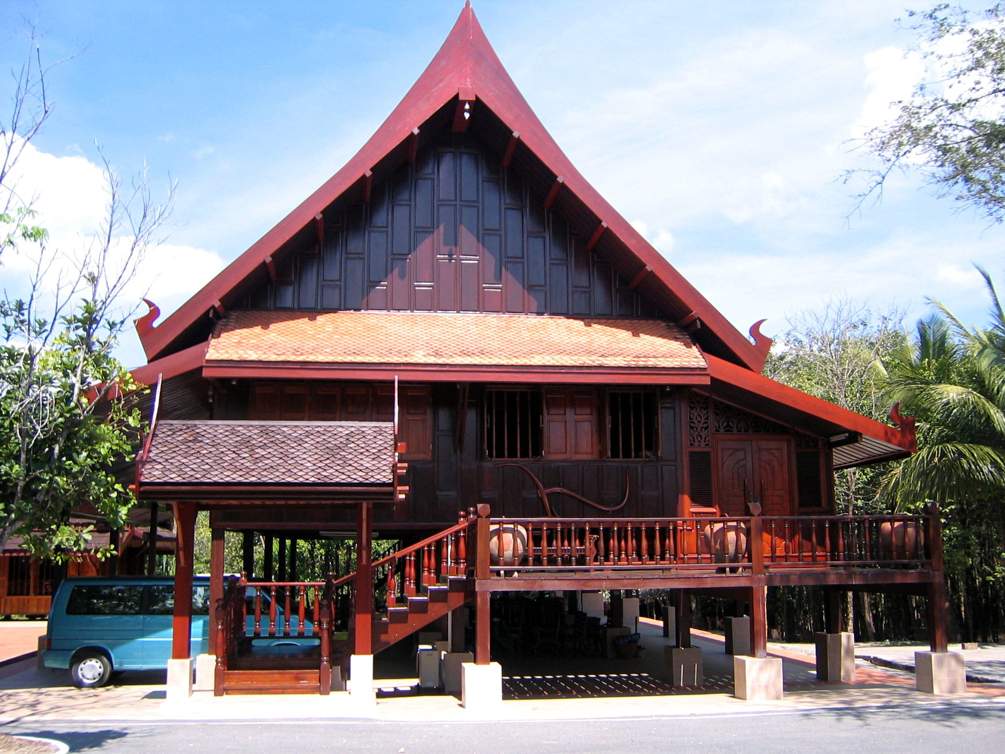 Traditional Thai House On Stilts