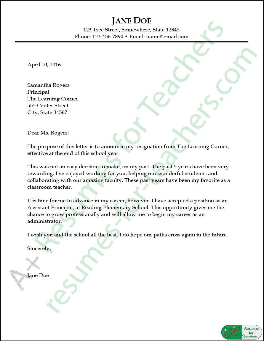 Resignation Letter for A Teacher Luxury Teacher