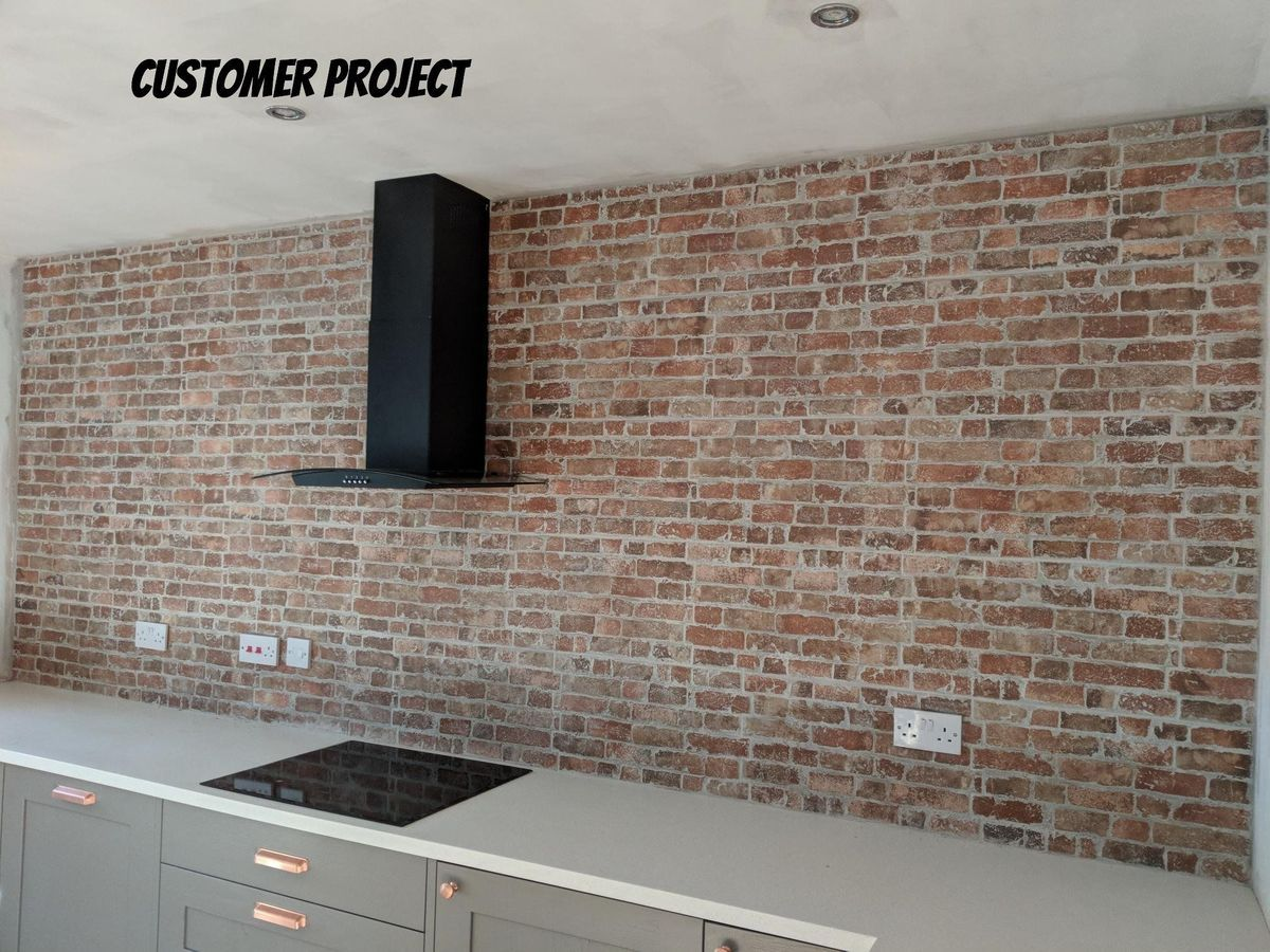 New York Rustic Brick Red Effect Wall Tile Brick Wall Kitchen Brick Style Tiles Brick Effect Tiles