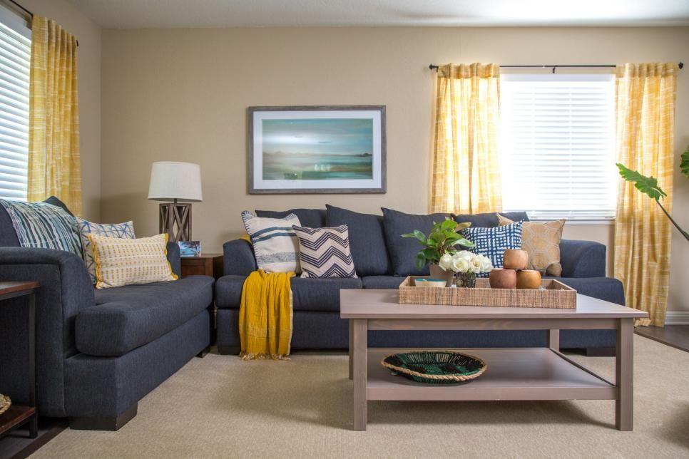 Coastal Living Room Makeover Interior Design