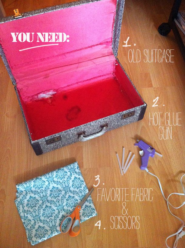Repurpose a vintage suitcase. Photo shoots | Suitcase craft ...