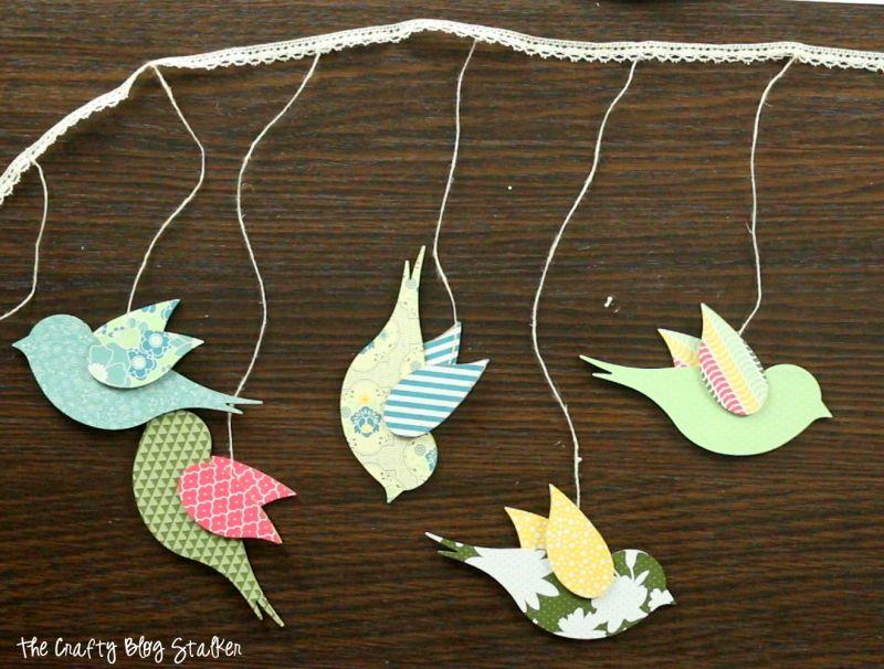 Photo of How to Make a DIY Bird Garland | The Crafty Blog Stalker