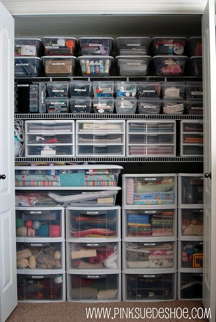 storage closet - if I ever got this organized I wouldnu0027t know what to do with myself....but itu0027s a great goal!! & into the closet | Products I Love | Pinterest | Storage closets ...