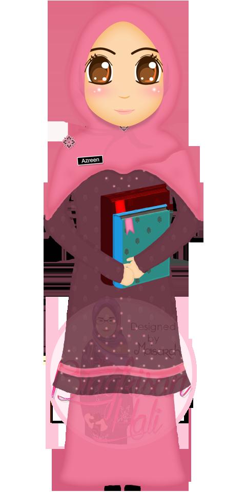 BlogBingkisanHati.png (480×960)   Doodle girl, Hijab ...
