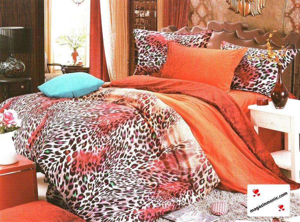 Ефектно спално бельо от 4 части в оранжеви тонове и леопардови окраски, които допринасят за свежеста и красотата на десена. Изключително меката и приятна материя от сатениран памук, допринася за уюта и комфорта на вашия сън. Внесете стил и свежест в спалнята си тъй като там прекарваме голяма част от живота си.