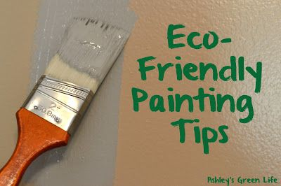 Eco-Friendly Painting Tips for a nursery or any other painting project you may be working on.