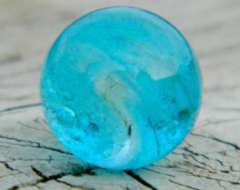 Glow In The Dark 10mm Handmade Glass Marble Stone For Interchangeable Ring Or Pendant Glows Light Blue Glass Marbles Handmade Glass Glass Pendant Jewelry