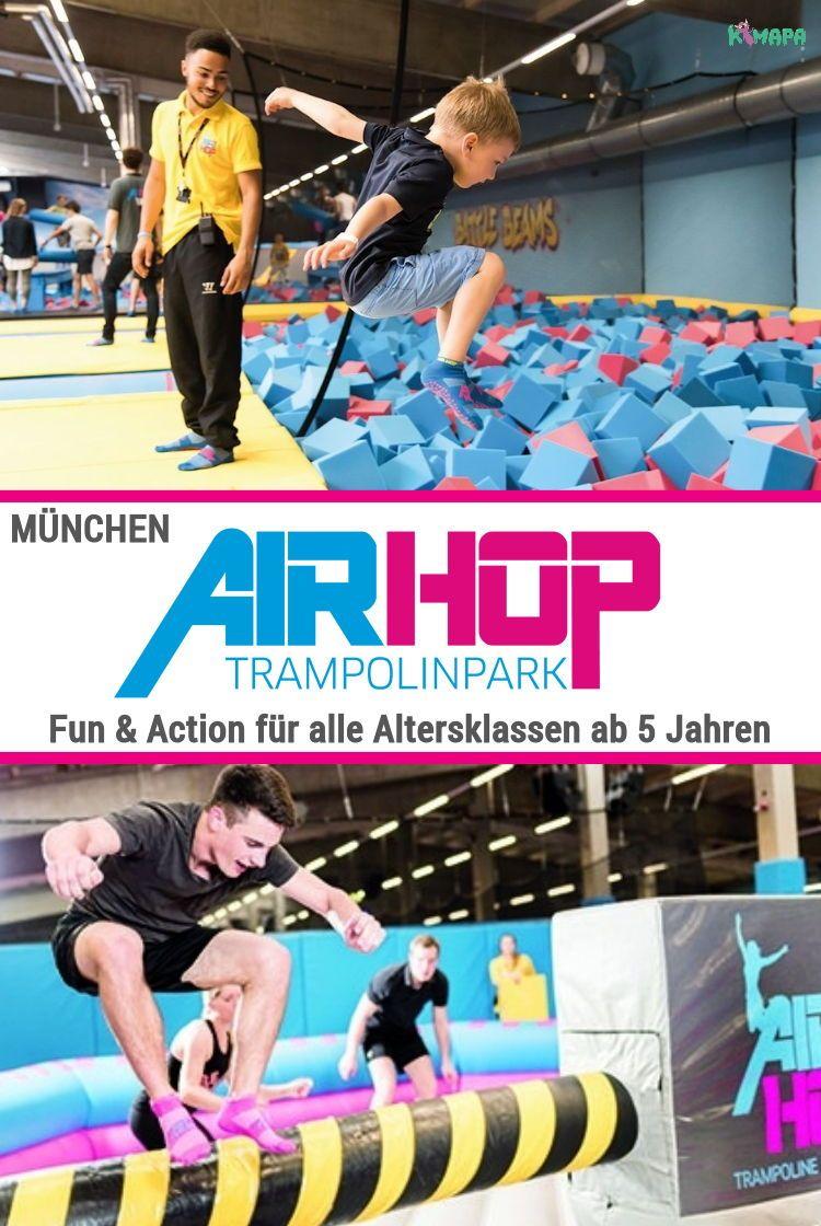 Airhop Trampolinpark Munchen Milbertshofen Kimapa In 2020 Trampolin Park Indoor Spielplatz Munchen Tipps