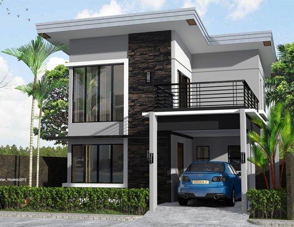 Gambar Rumah 2 Lantai Minimalis Sederhana Di 2020 Desain Rumah Rumah Minimalis Arsitektur