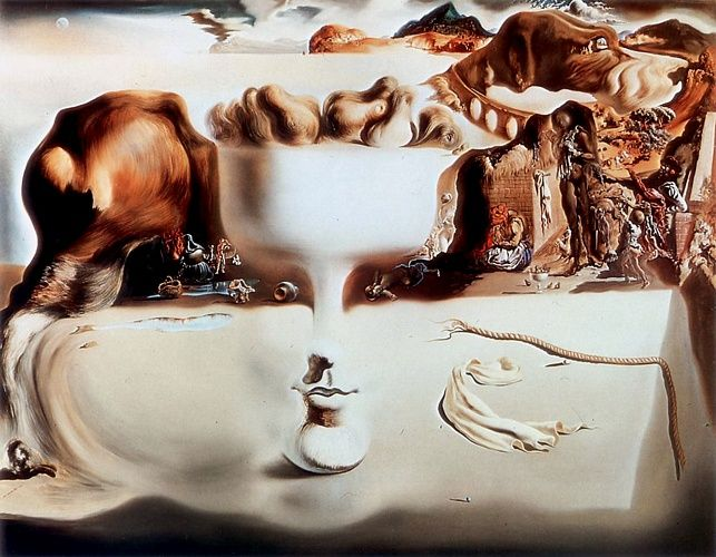Apparition Of Face And Vase On The Beach Salvador Dali Art