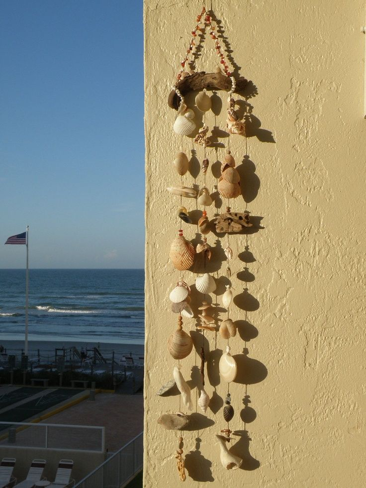Driftwood Arts and Crafts | ocean wall art with shells, beads ...