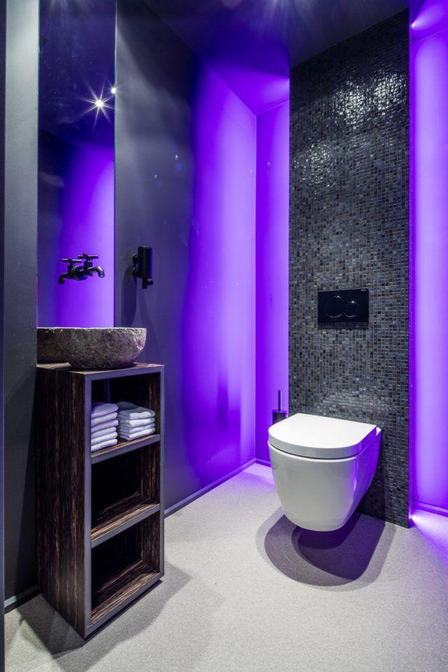 Luxe toilet met verlichting badkamer idee n design badkamers bathroom decor for Commode design luxe
