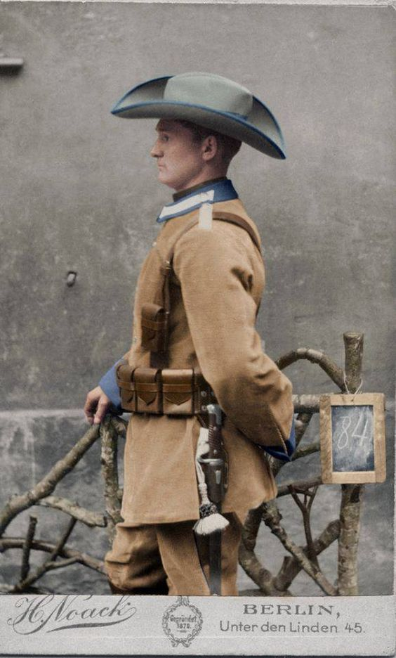 Schutztruppe Corduroy Uniform, German South West Africa 1896-1915 - in color