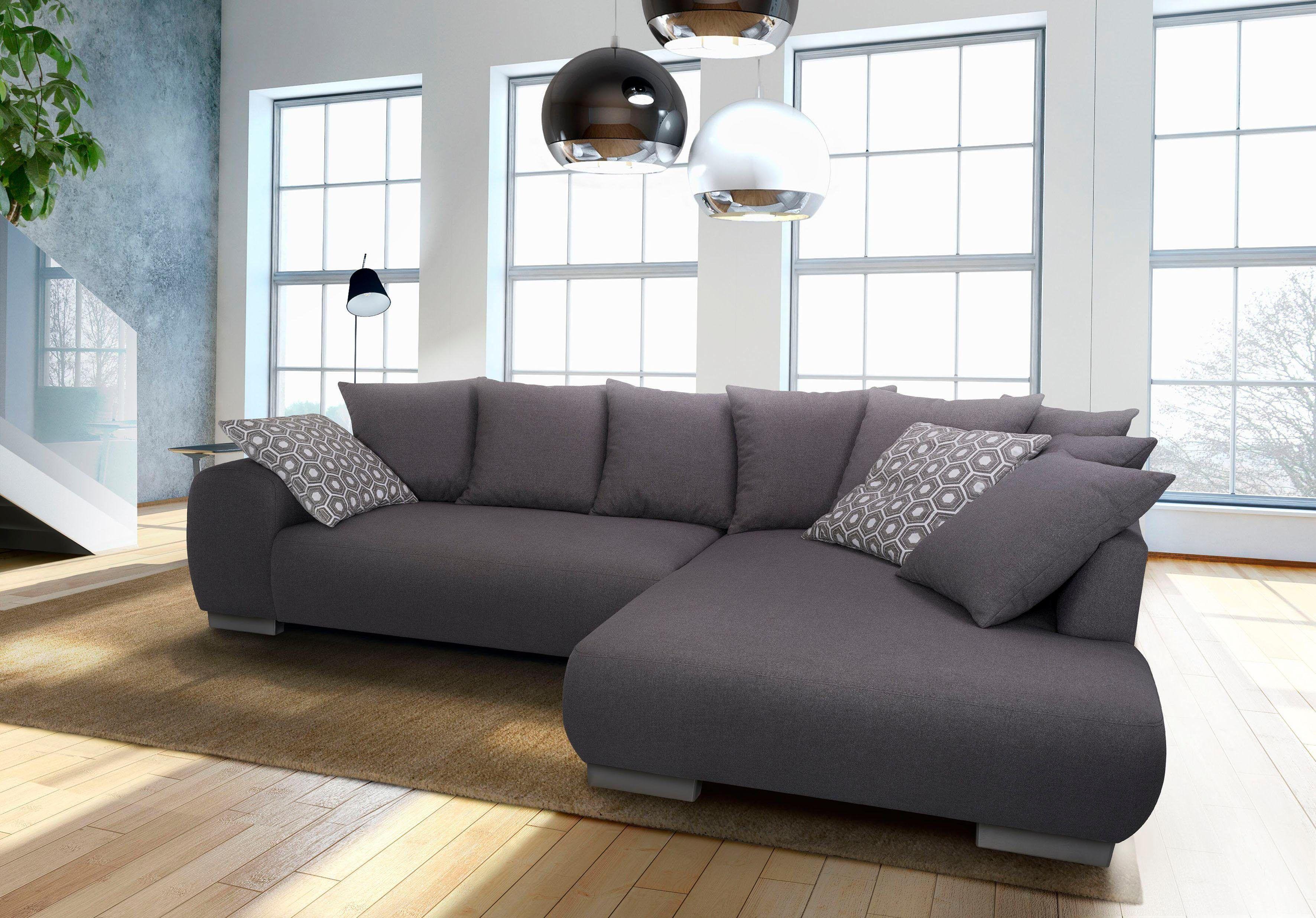 Luxus sofa Grau Weiß Design