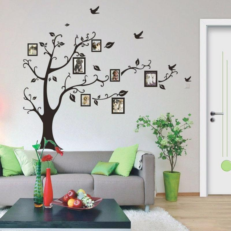 Family photo tree wall decal | Decoracion con fotos y Decoración