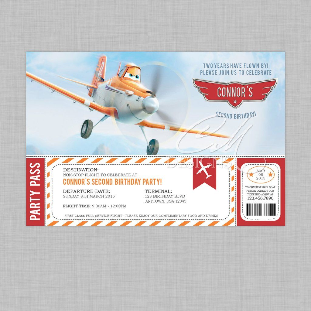 Planes/Dusty Crophopper Birthday Invitation | Birthday Invitations ...