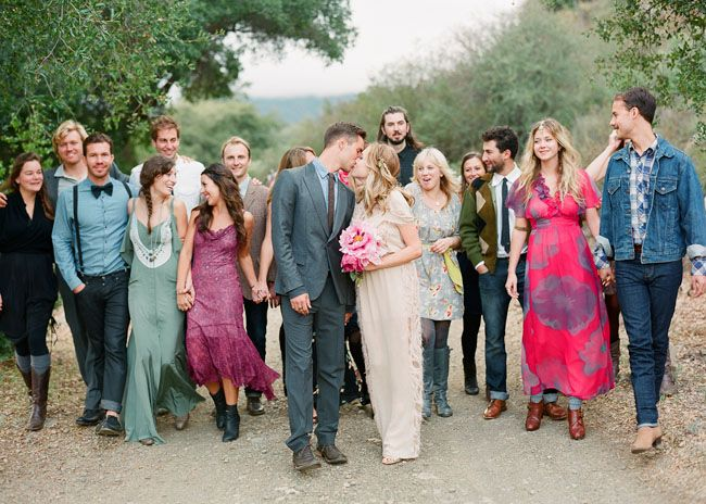 Diy ojai wedding emily ian hipster wedding bohemian for Bohemian dresses for a wedding guest