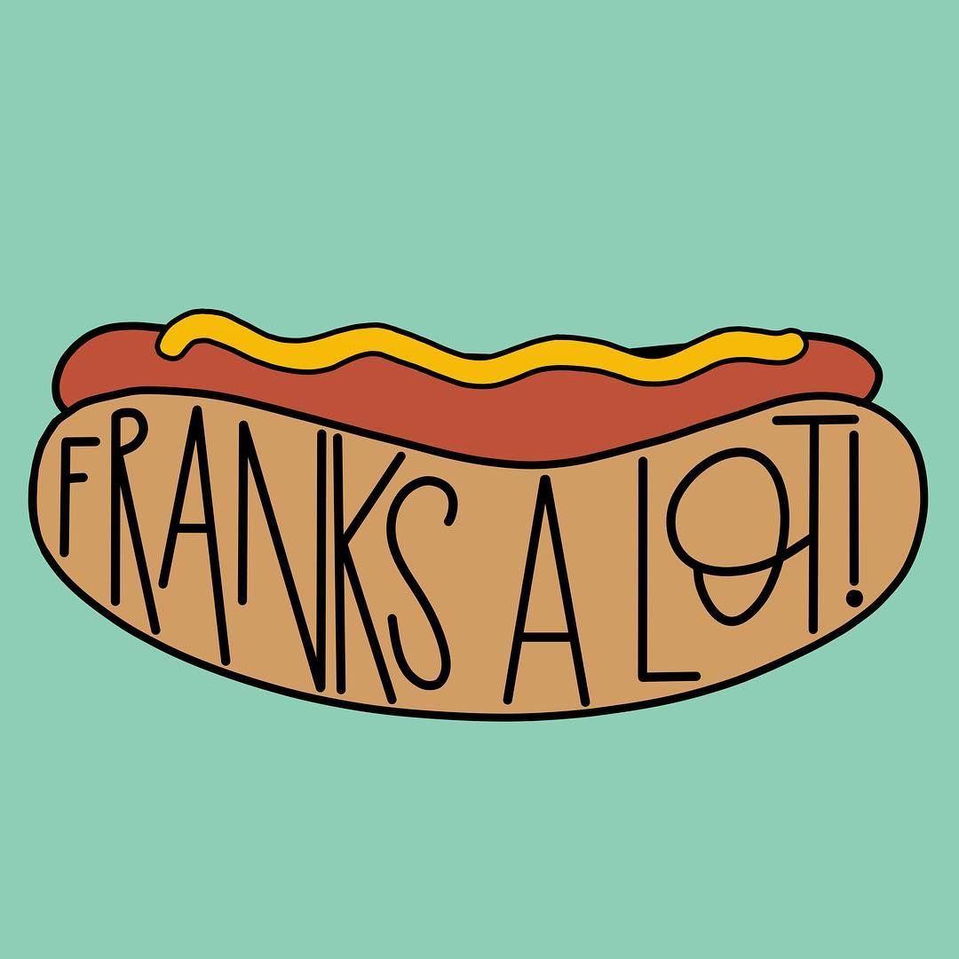 Franks A Lot Hot Dog Pun Funny Joke Dog Puns Dog Jokes Funny Puns