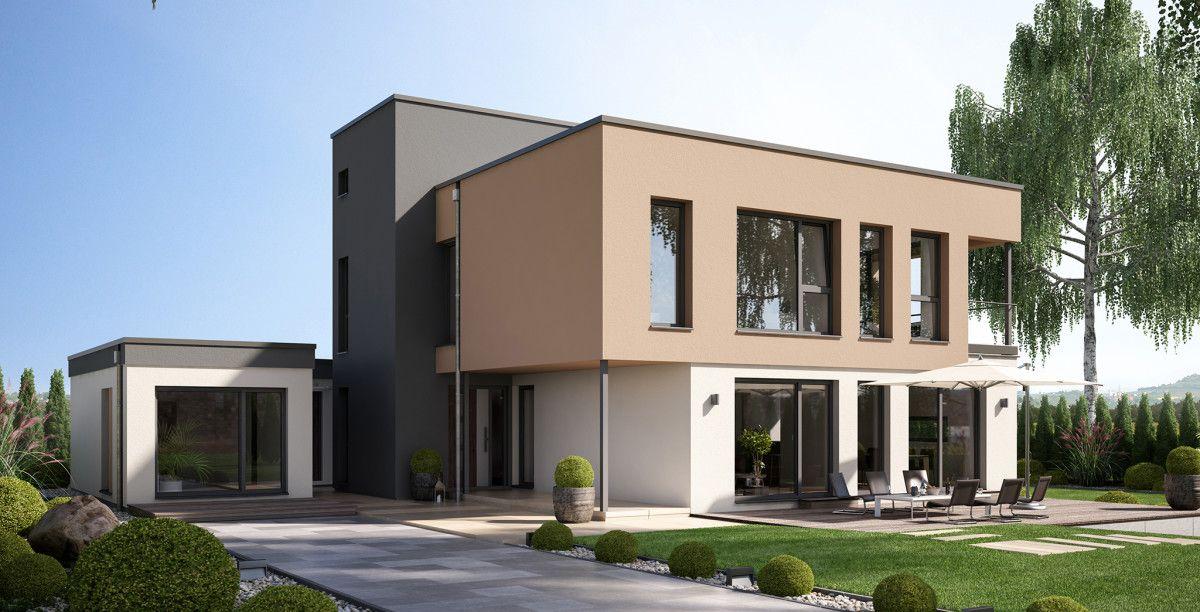 Moderne stadtvilla im bauhausstil haus concept m 198 for Moderne villen grundriss