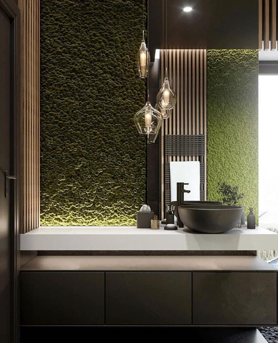 What Do You Think About This Bathroom Nature Bathroom Is Designed And Visualized By Alex Lazurenko Bathroom Interior Design Natural Bathroom Washroom Design