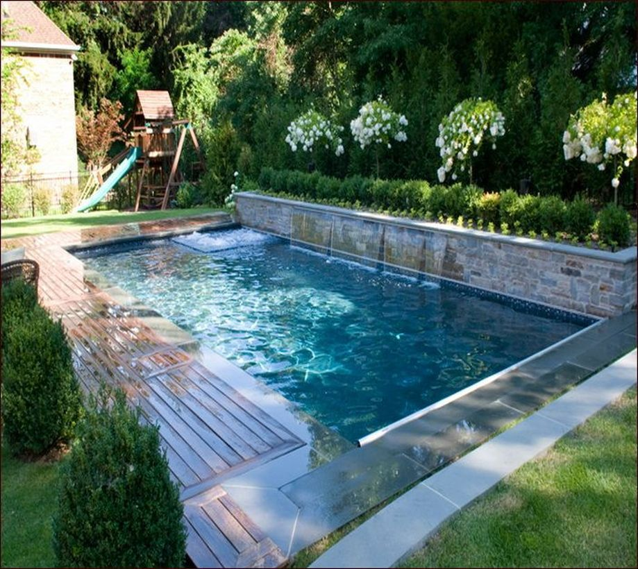 Awesome Small Pool Design Ideas For Home Backyard Hoommy Com Small Inground Pool Small Pool Design Small Backyard Pools