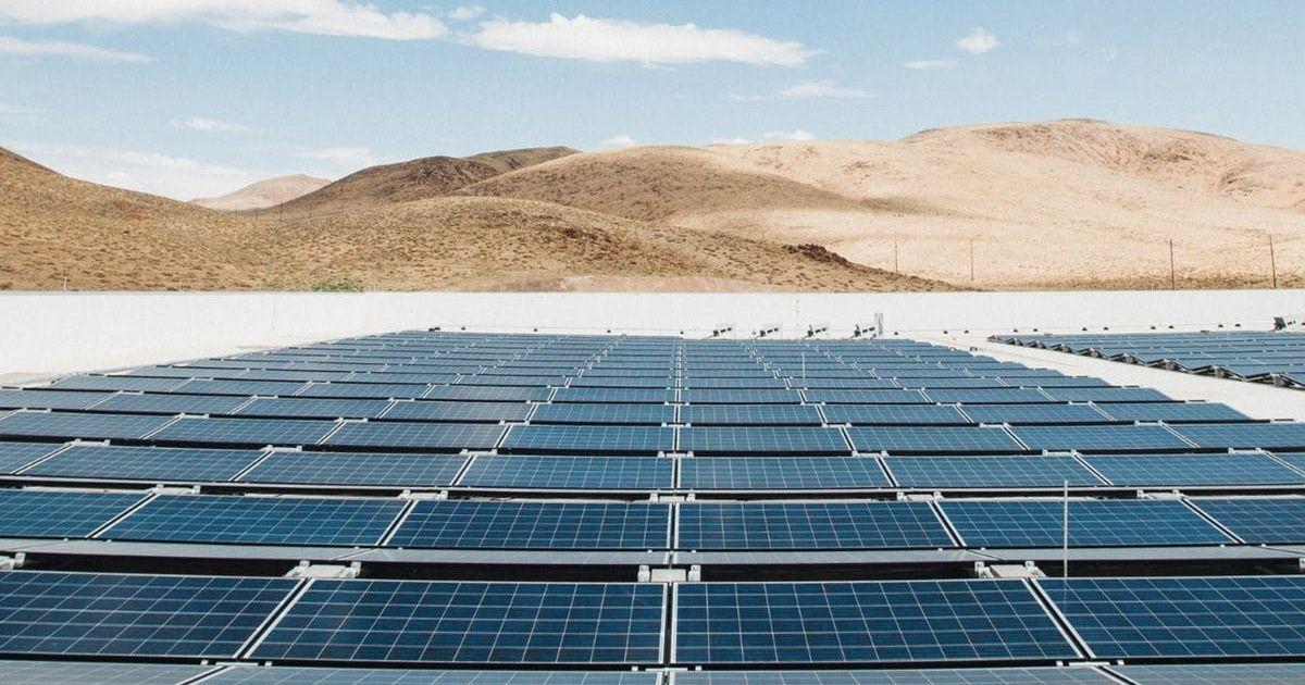 Tesla Shares Image of the Massive Solar Panels Powering
