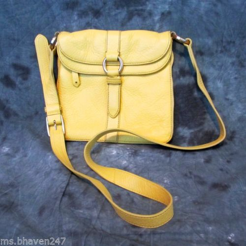 Cole Haan Designer Small Yellow Leather Crossbody Purse Bag Handbag Ebay