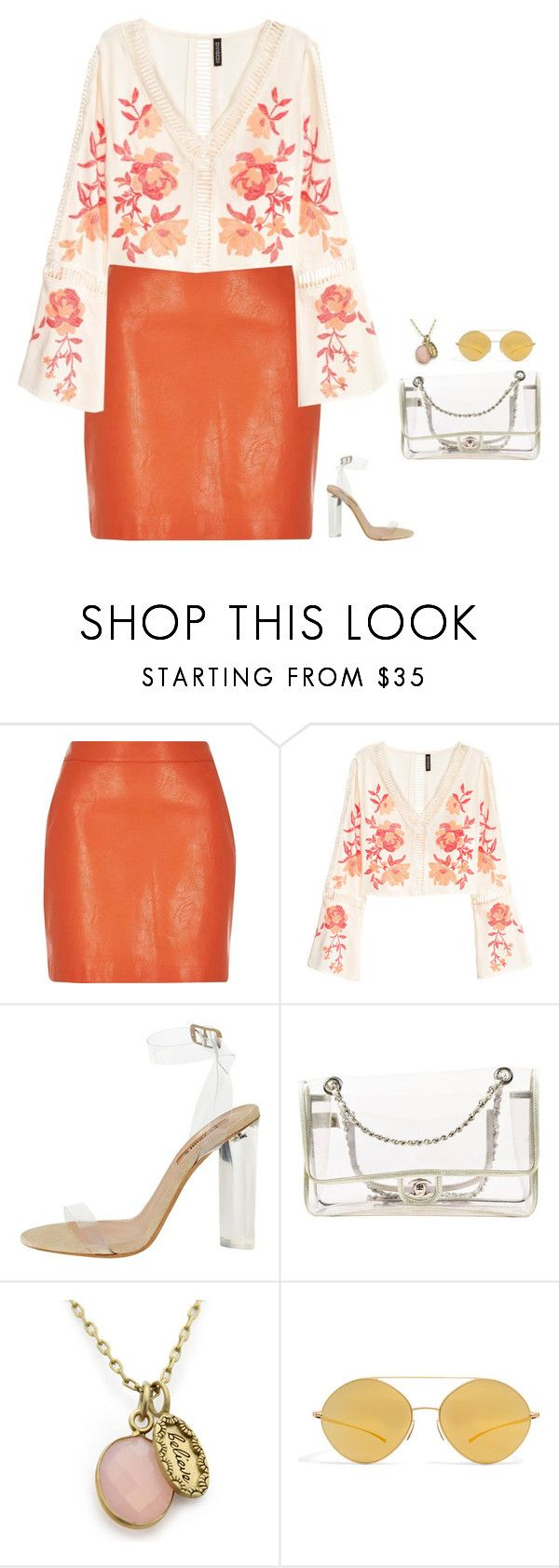 """""""#3142"""" by azaliyan ❤ liked on Polyvore featuring River Island, adidas Originals, Chanel and Mykita"""