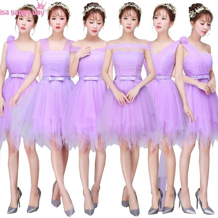 2018 robes de soiree lavender colored pretty short formal elegant ...